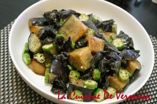 La Cuisine De Veronica 雲耳秋葵白味噌炒茄子