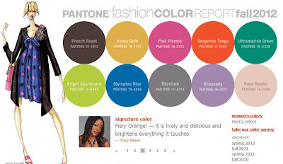 Fashion color trends for 2012