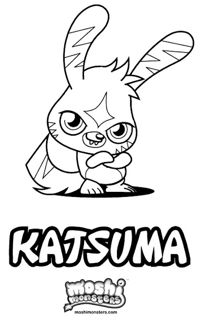 Moshi Monsters Coloring Pages - Katsuma