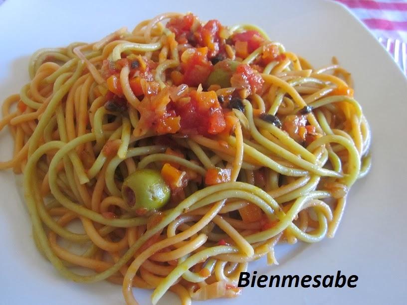 espagueti con verduras 1