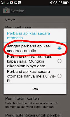 Cara Menonaktifkan Update Otomatis Pada Handphone Android