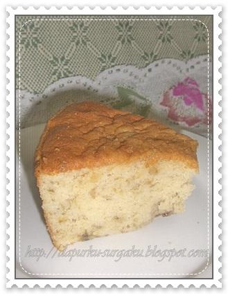 Resep Olahan Pisang, Cake Pisang, Cake Tanpa Pengembang Tambahan, Cake Tanpa Margarin Dan Mentega, Bolu Pisang Lembut