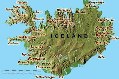 Travel Guide Map Of Iceland Geography Pictures - Iceland map