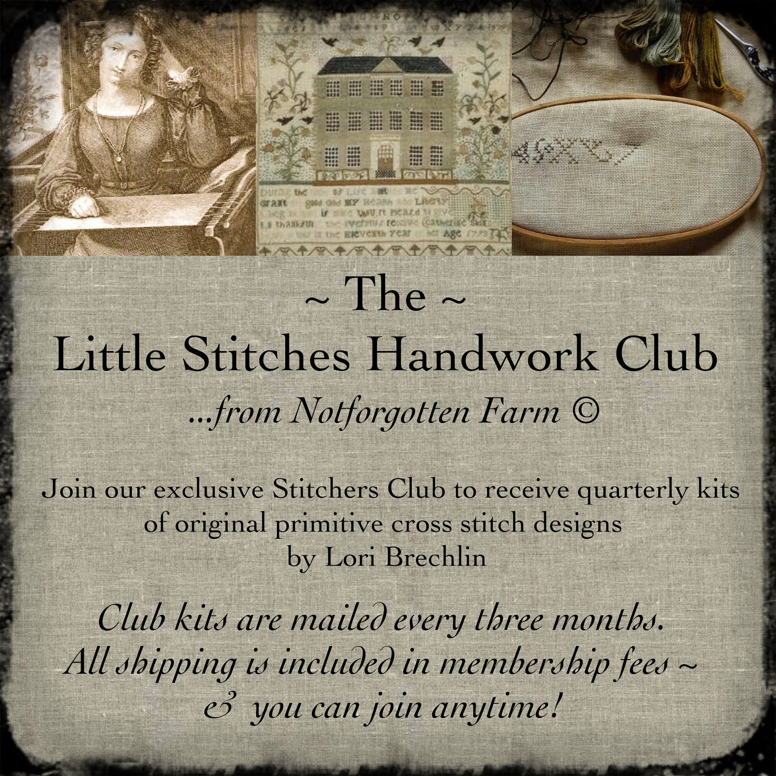 The Little Stitches Handwork Club ~ from Notforgotten Farm