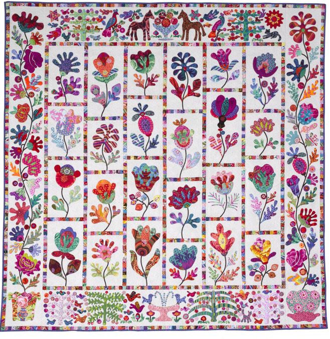 Tatteredgarden Quilting Flower Garden By Kim Mclean
