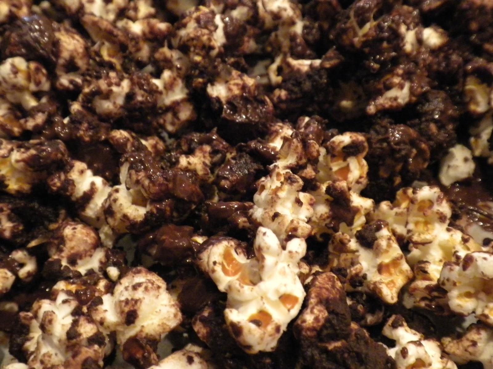 Substance of Living: Gourmet Sea Salt Dark Chocolate Popcorn