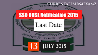 SSC CHSL Notification 2015