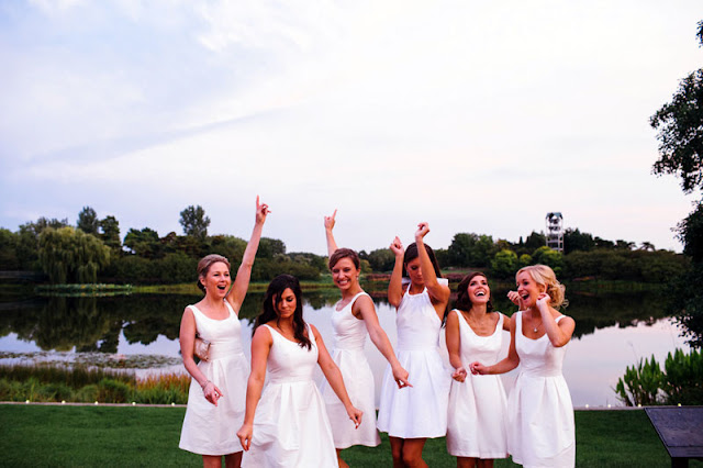Classic White Bridesmaids Dresses