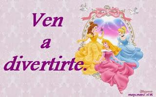 Invitaciones de Cumpleaños, Princesas Disney, modelo 1
