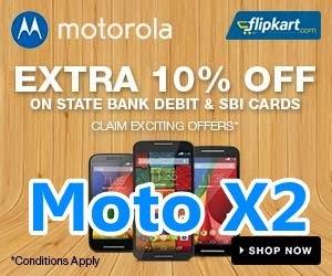 Buy Motorola Moto X2 with 10% discount Offers on Flipkart Online Shopping