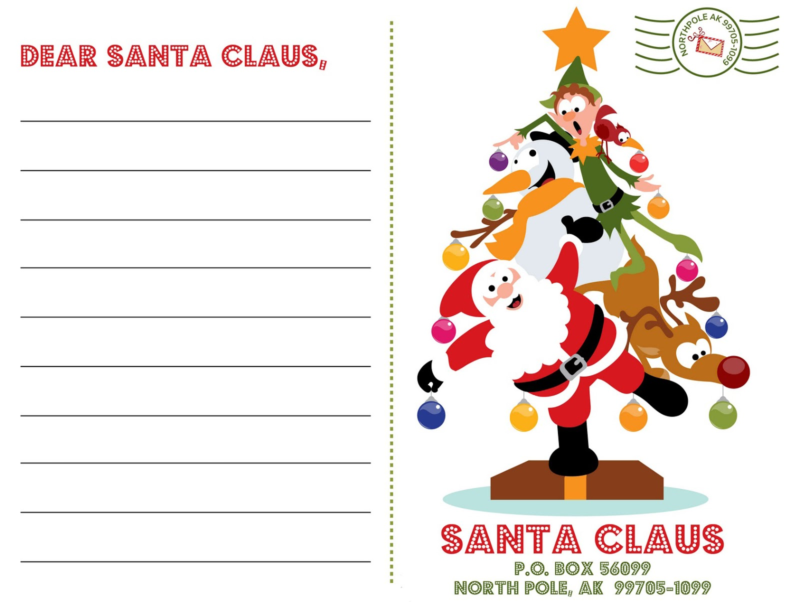 Letter From Santa Envelope Template Letter to santa templates