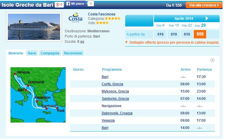 Crociera Isole Greche da Bari