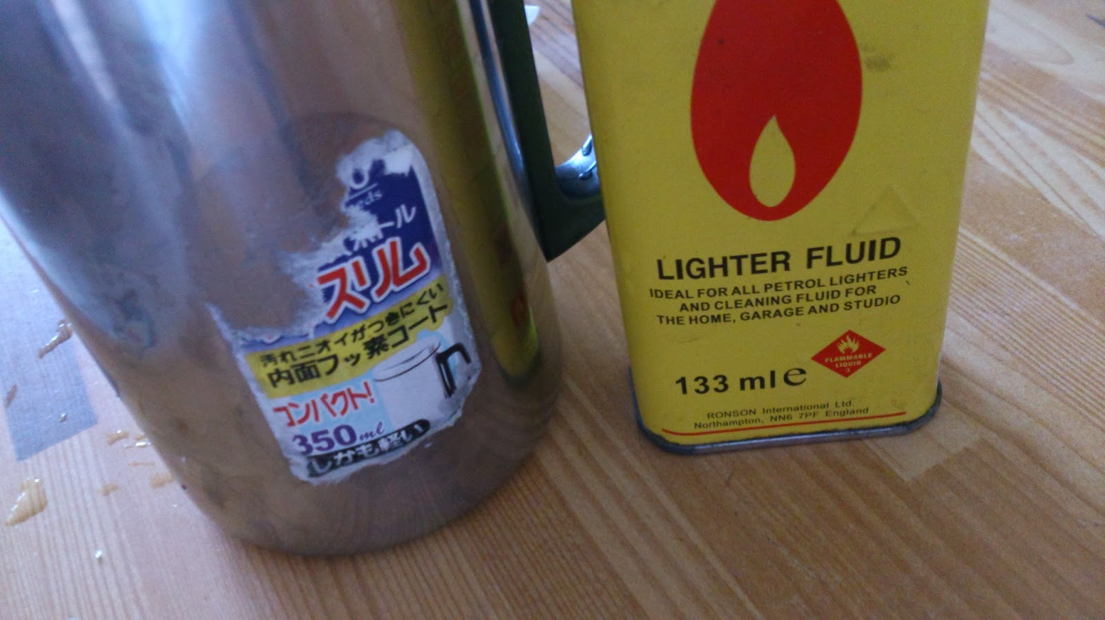 Lighter Fluid  Adhesive removal