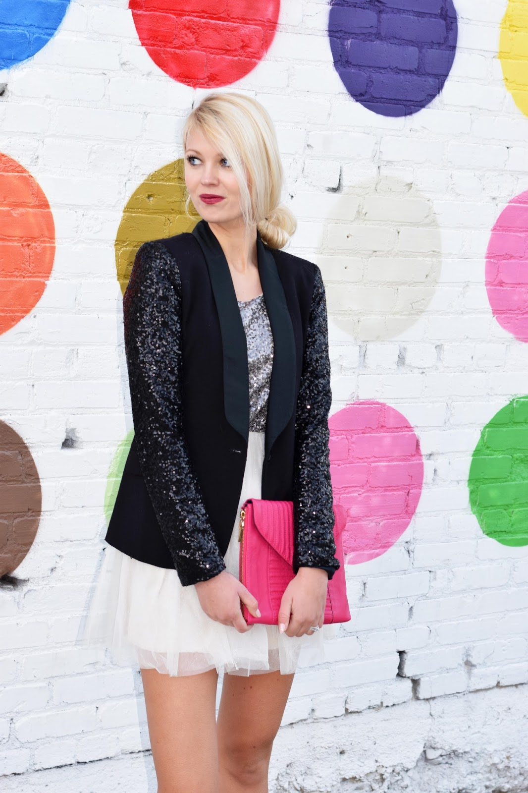 NYE outfit, sequins, sequin blazer, blazer, sequin dress, new years, new years outfit