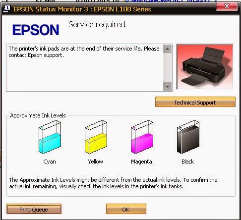 Cara Reset Printer Epson L100
