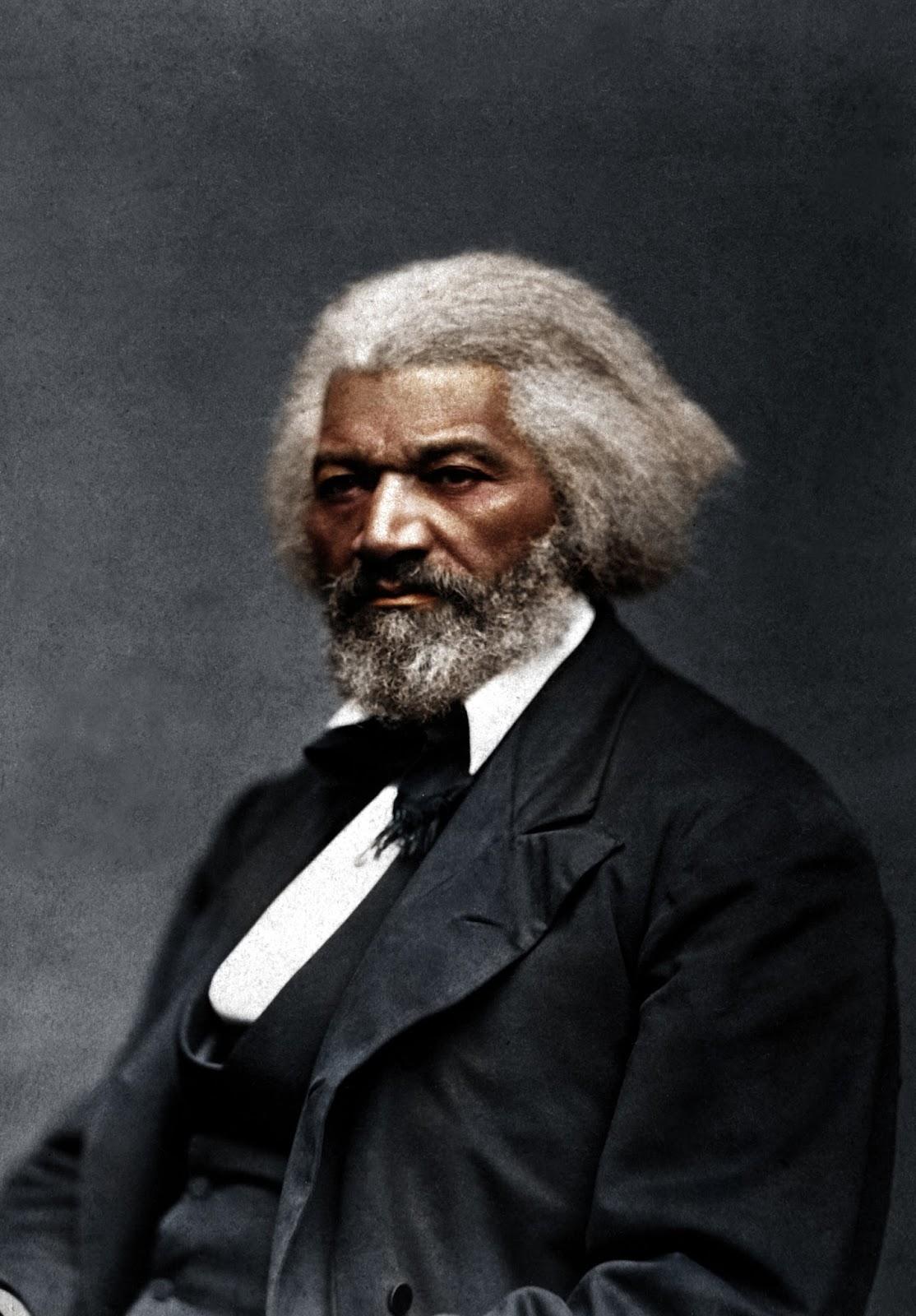 19c American Women Colorized Photo Of Frederick Douglass