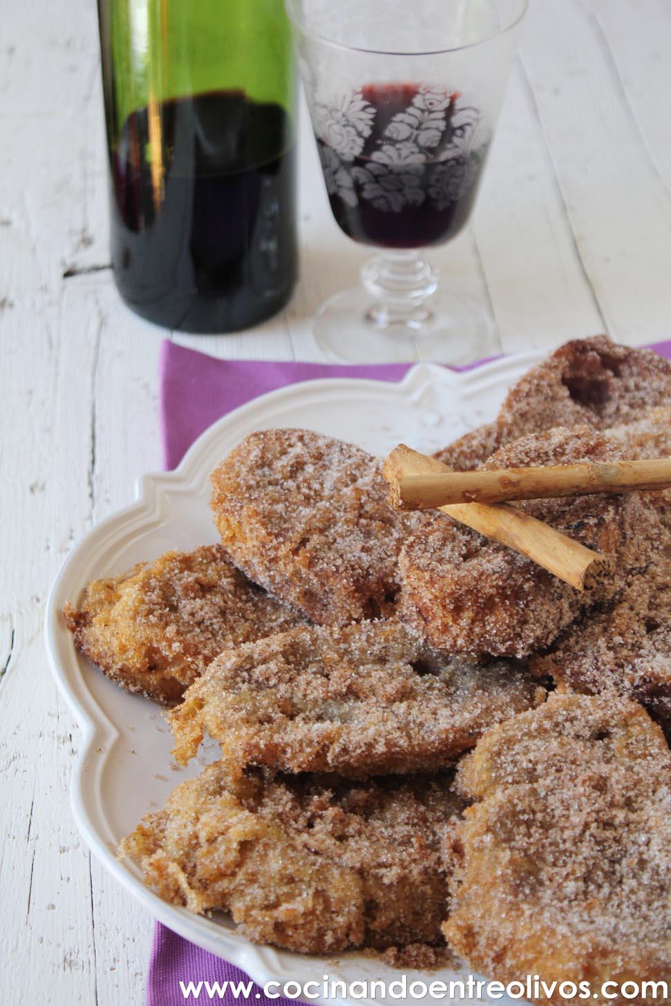 Cocinando entre olivos torrijas de vino tinto receta for Cocinando entre olivos