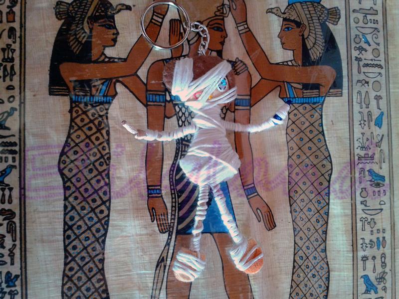 Mini-Elily Egipto Momia LLavero Fieltro