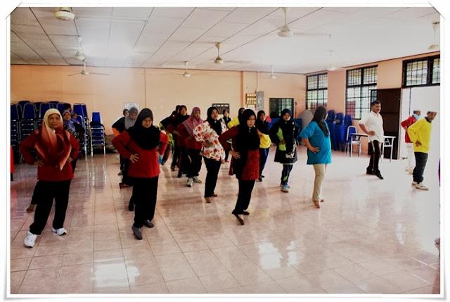 Program pagi dimulakan dengan Aktiviti Senamrobik.