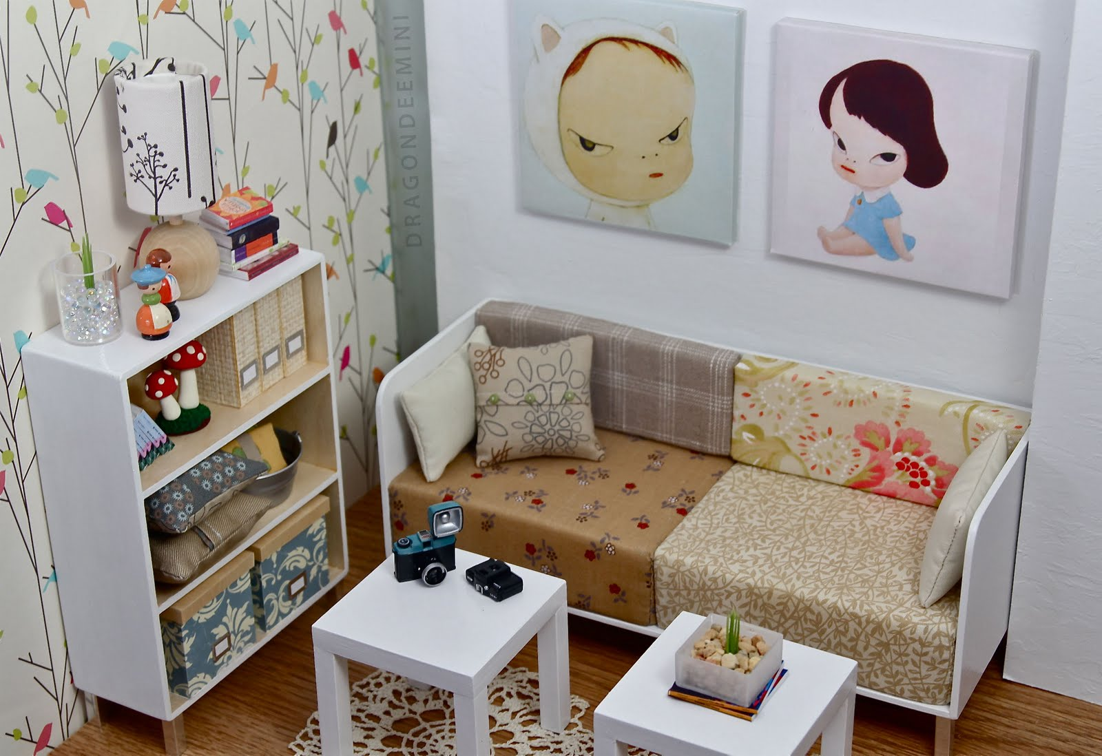 Quirky Living Room Modern Miniatures By Dragondee The Quirky Room