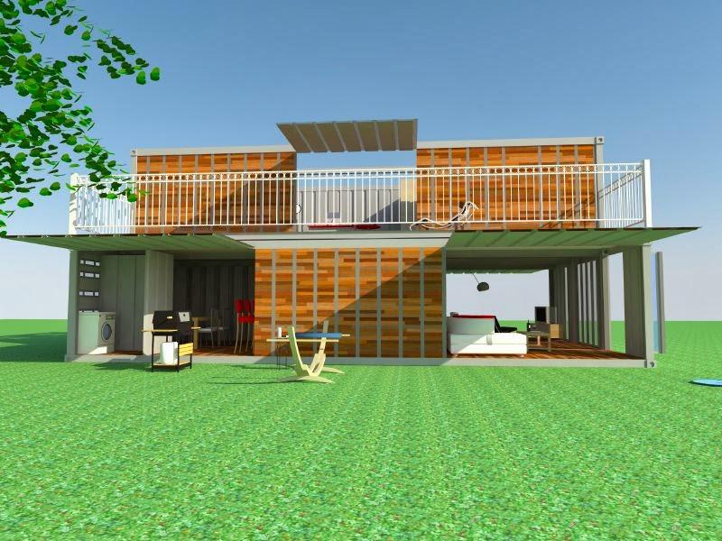 El exterior de la casa se ha revestido con madera para for Modele de maison container
