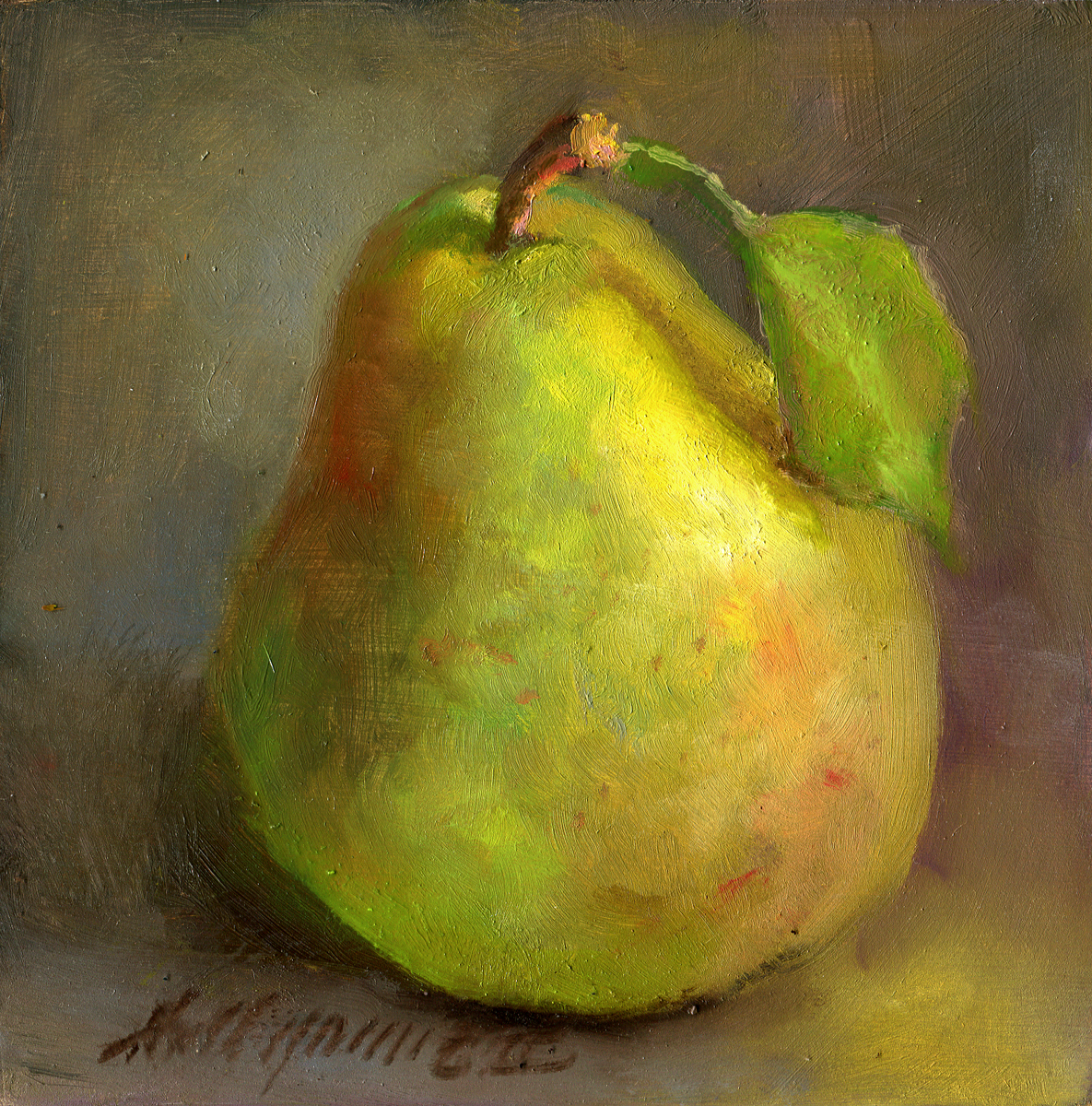Bartlett Pear Classical Fruit Painting