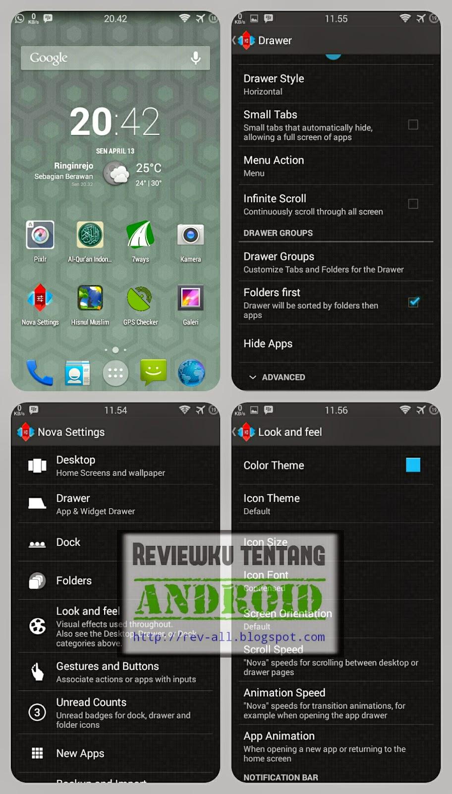 Tampilan Nova Launcher - Launcher kecil dan bagus untuk android (rev-all.blogspot.com)