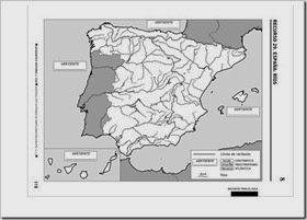 Mapa mudo ríos España.
