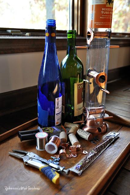 Rebecca 39 s bird gardens blog diy wine bottle bird feeders Wine cork birdhouse instructions