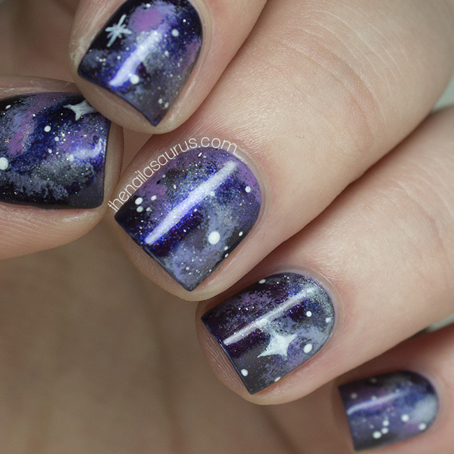 No7 Galaxy with Galaxy Nail Art  The Nailasaurus  UK Nail Art Blog