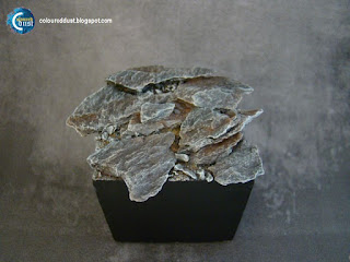 Coloured Dust: How to make a stone base?