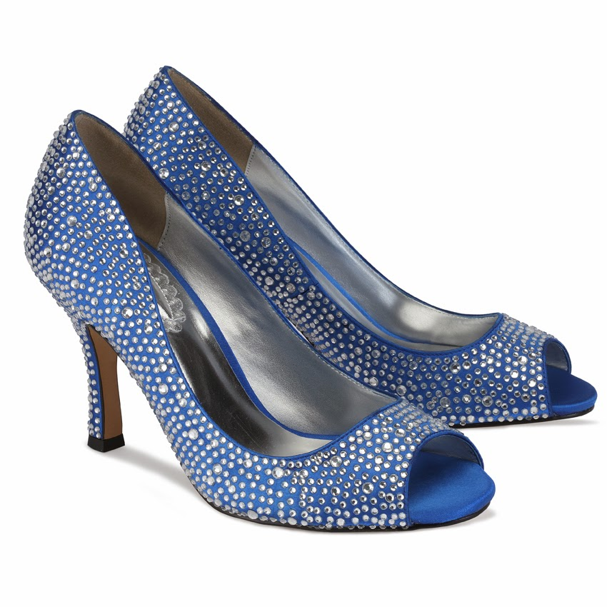 Wedding By Designs Royal Blue Wedding Shoes Cinderella Style