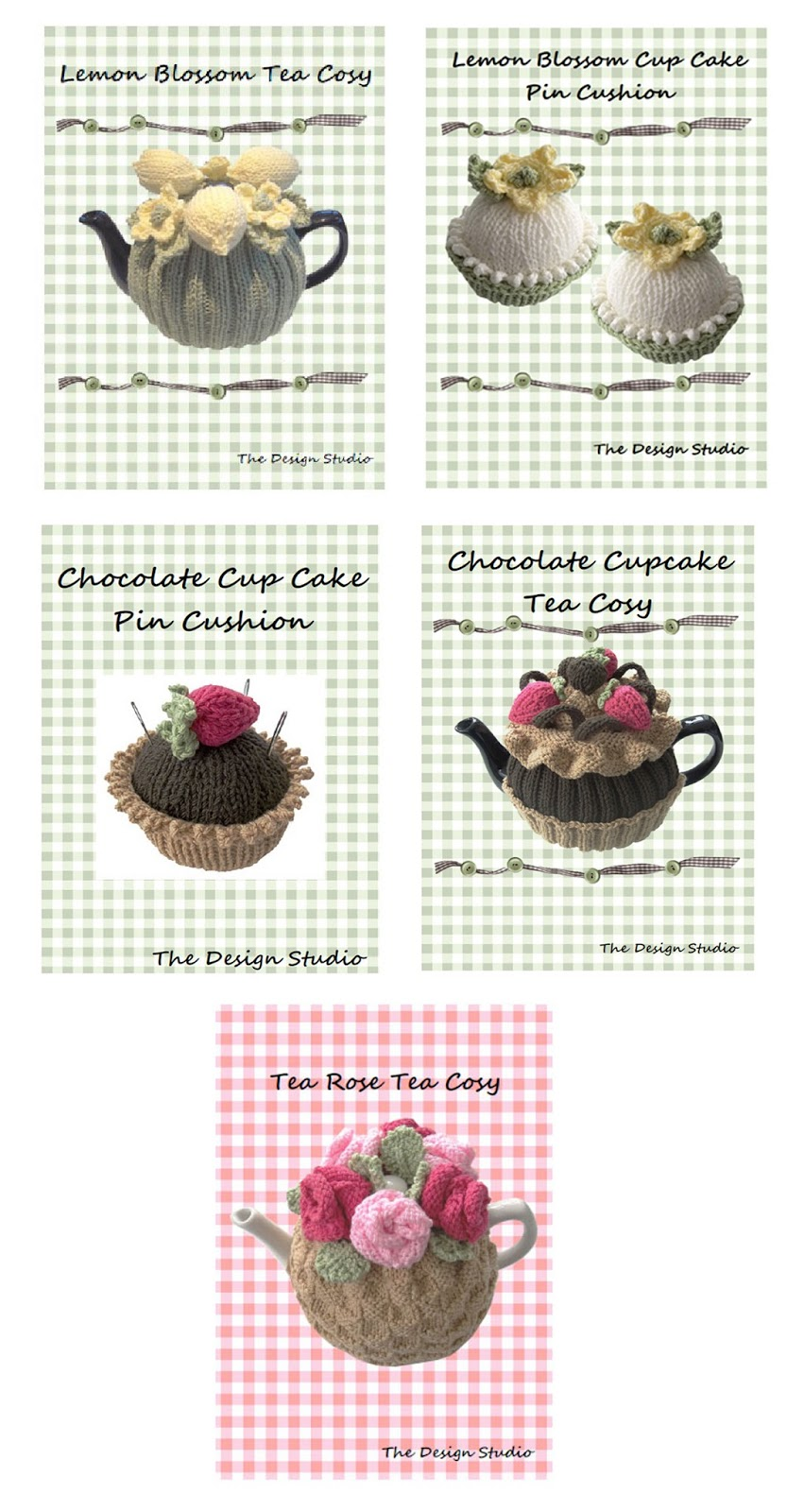 Tea Cosy and Cupcake Knitting Patterns