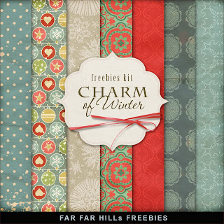 Freebies Kit of Backgrounds - The Charm of Winter