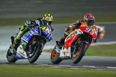 Duel  Marc Marquez VS Valentino Rossi MotoGP Qatar 2014