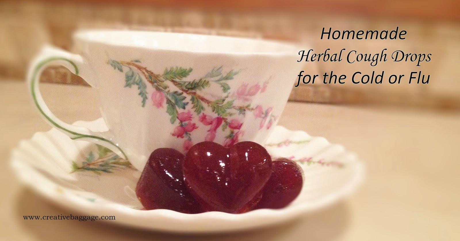 Homemade herbal cough drops for the cold or flu image