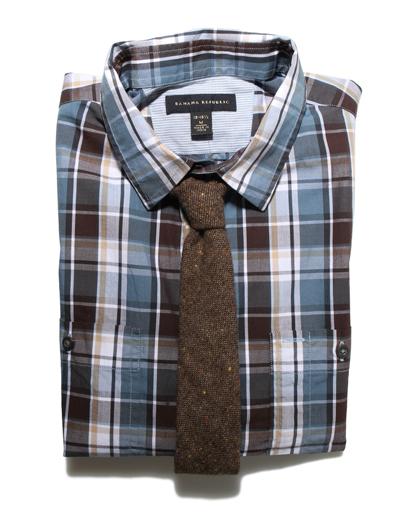 2012 erkek giyim trendleri ekose gömlek ve wooly kravatlar