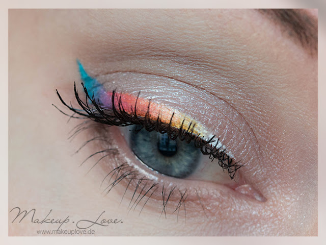 rainbow eyeliner nyx white liquid liner kat von d mi vida loca palette