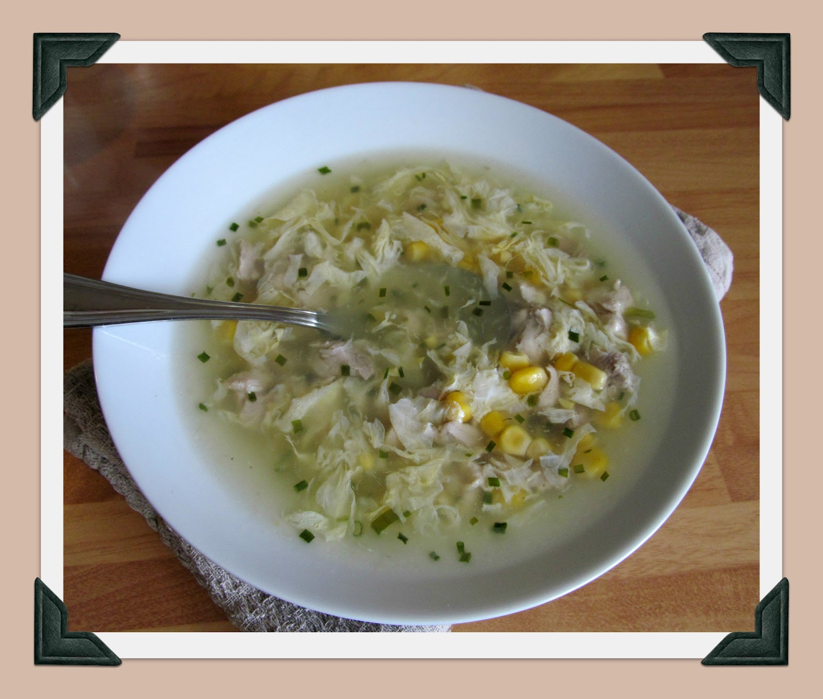 how to make chicken and sweetcorn soup like the chinese