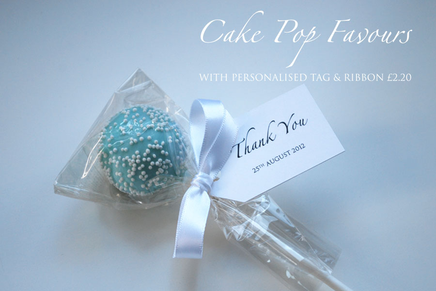 Cake pop favours now available online Welcome to the Twenty Seven