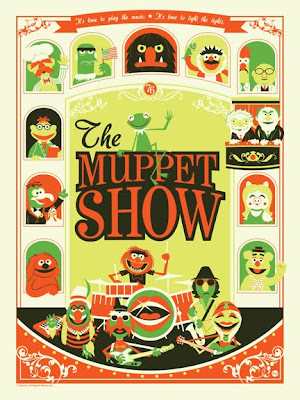 "San Diego Comic-Con 2011 Exclusive The Muppet Show ""It's Not Easy Being Green"" Variant Screen Print by Dave Perillo"