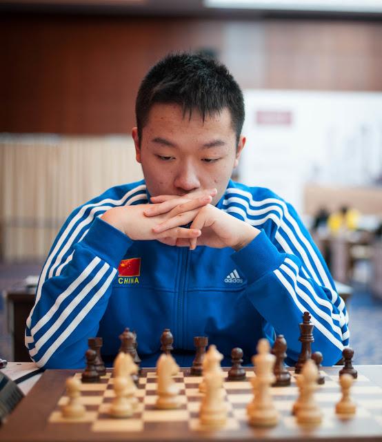 Wei Yi en el Qatar Masters 2015