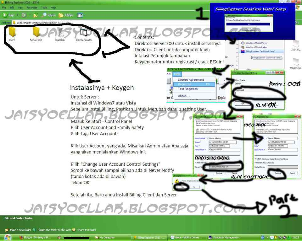 Crack billing explorer deskpro8 vista7