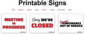 Free Printable Signs
