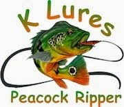 K Lures Hand Crafted Wooden Peacock Bass and Dorado Lures