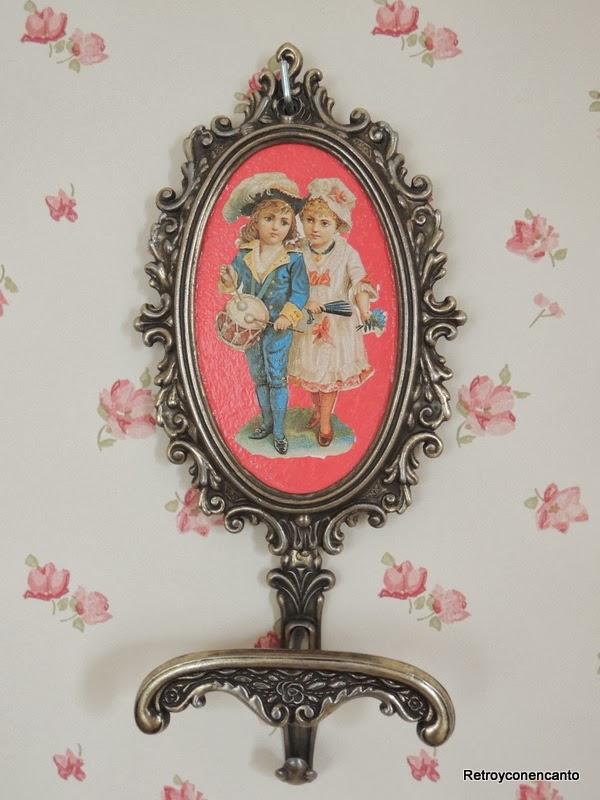 Bronce estilo Retro rosa fresa tarta de cumpleaos joyas