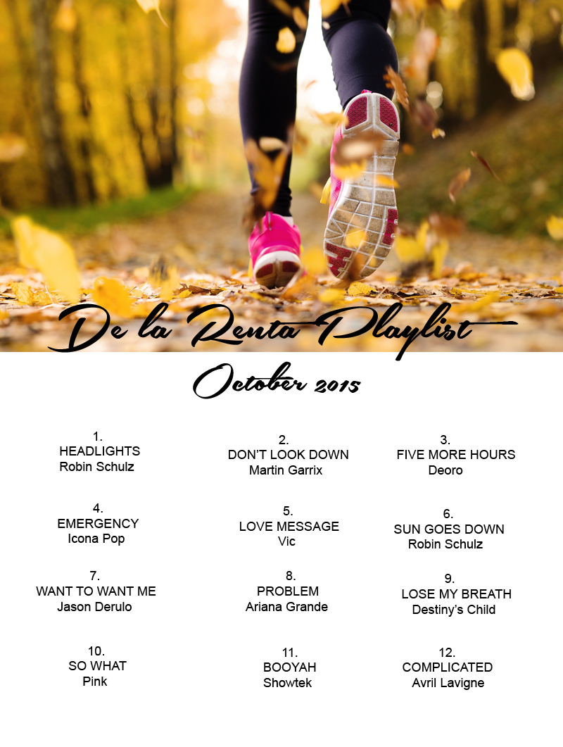 Playlist october 2015