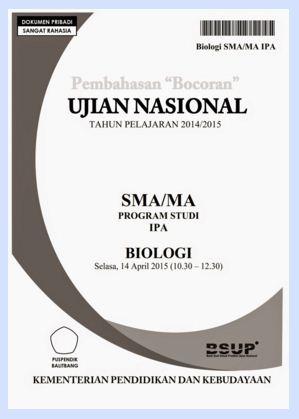 Download Quot Bocoran Quot Soal Ujian Nasional Mata Pelajaran Biologi Sma Pak Pandani Belajar Dan