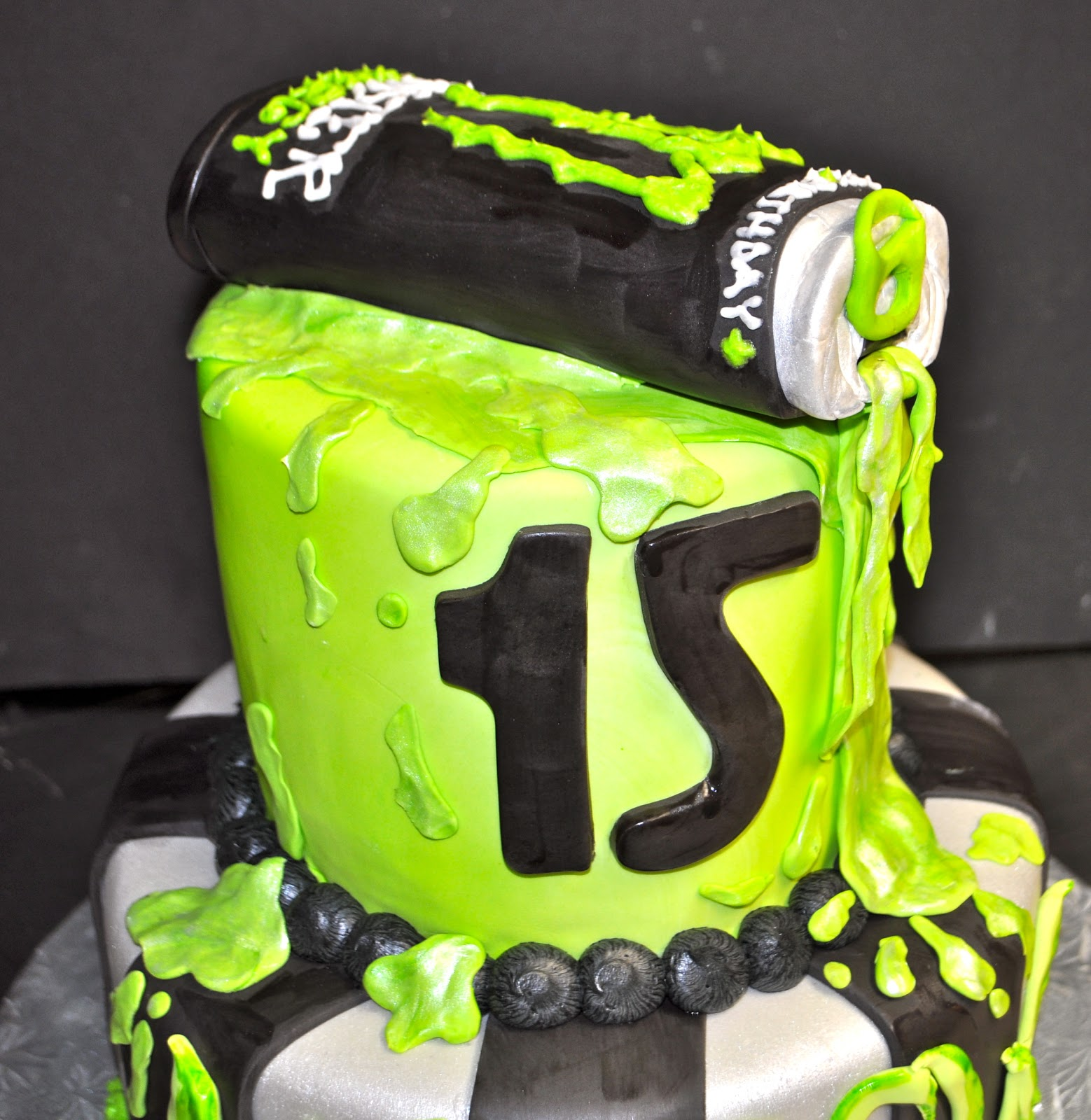 Coolest Cupcakes Monster Energy Drink Cake