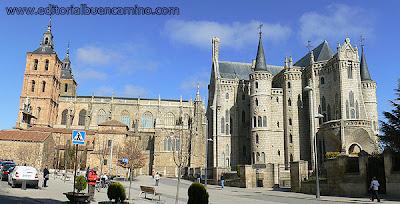 Palacio Episcopal de Astorga, junto al Camino de Santiago.